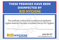 Sample Disinfection Treatment Certificate
